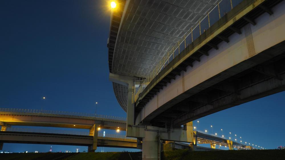 Under an Expressway in Tokyo wallpaper