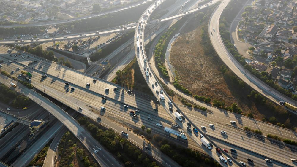 Interchange in LA wallpaper