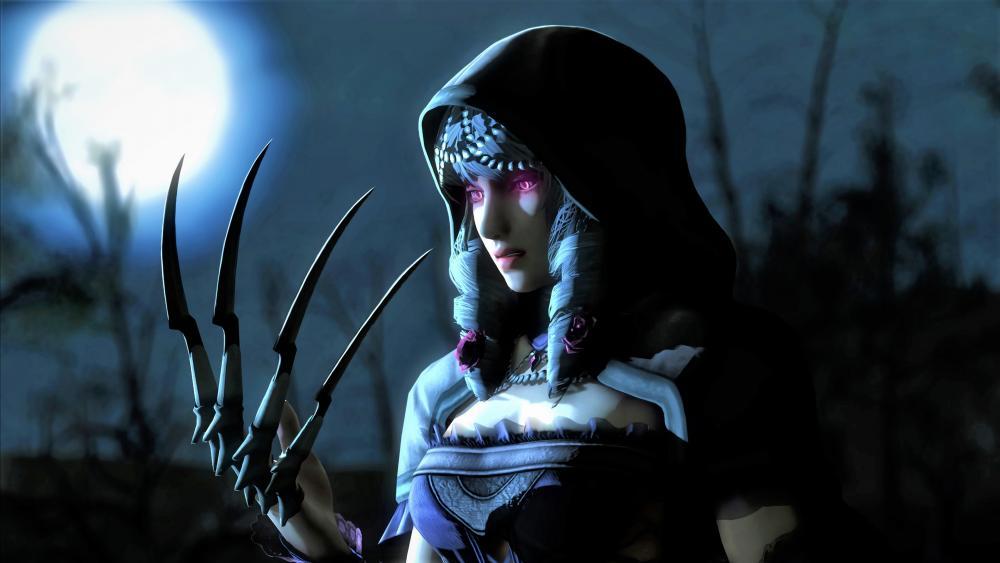 Dark warrior girl wallpaper