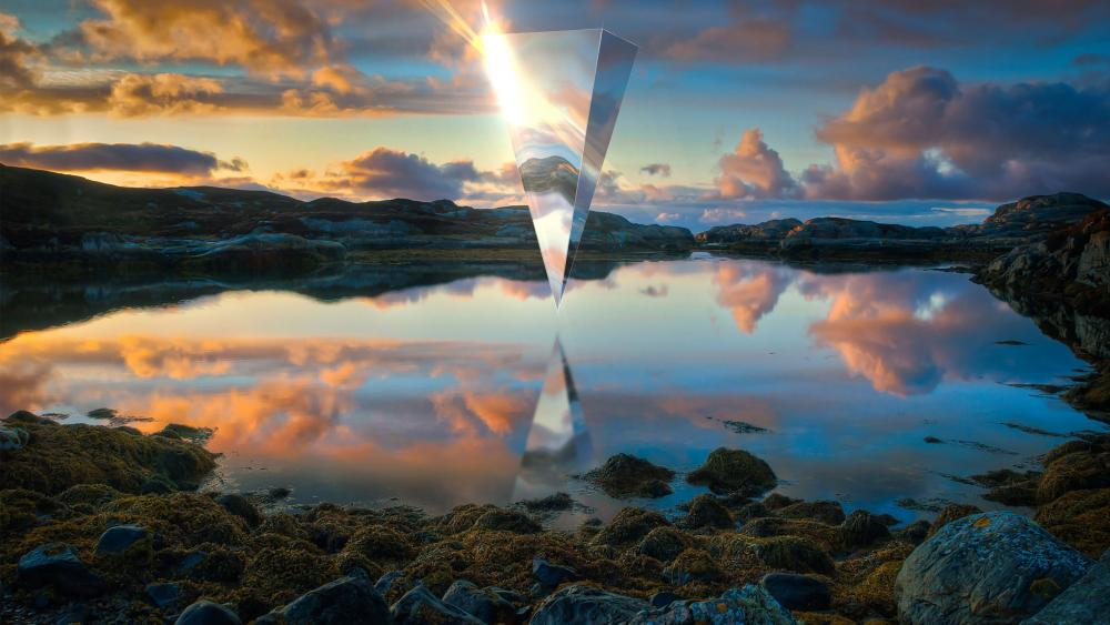 Structure reflection wallpaper