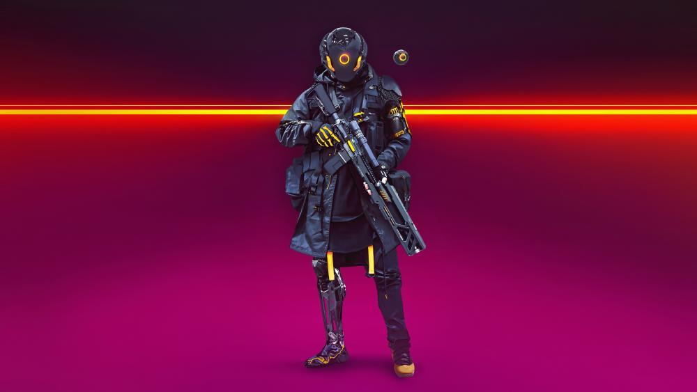 Cyberpunk soldier wallpaper