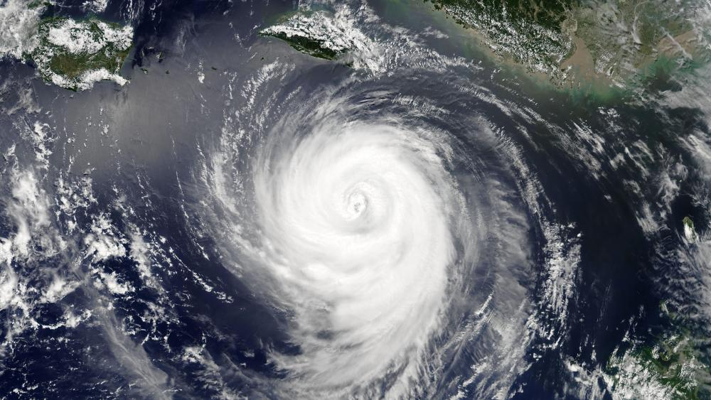 Typhoon Maria During an Eyewall Replacement Cycle wallpaper