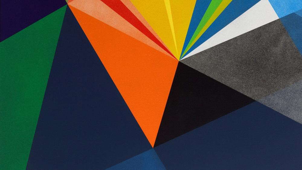 Abstract shapes material design wallpaper