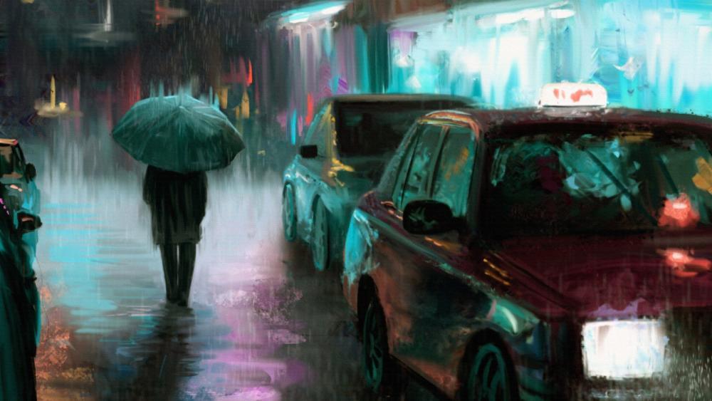 Rain In The City wallpaper