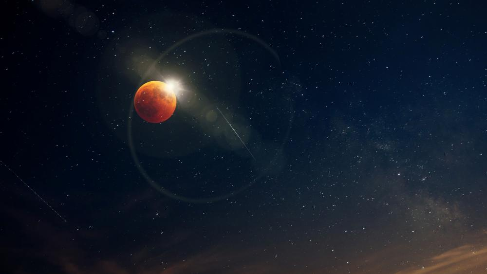 Red moon wallpaper