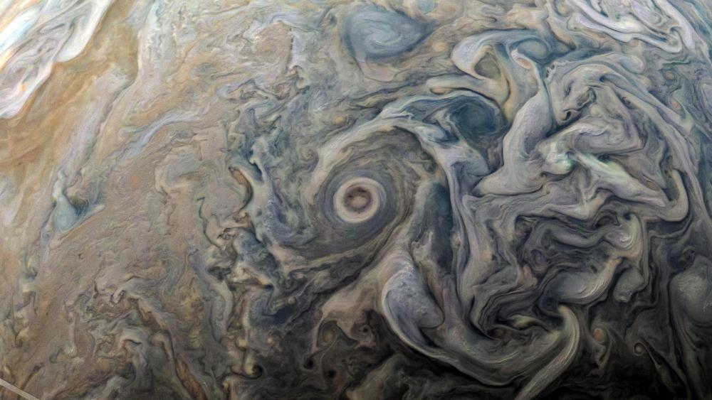 JunoCam Detail of Jupiter's Atmosphere wallpaper