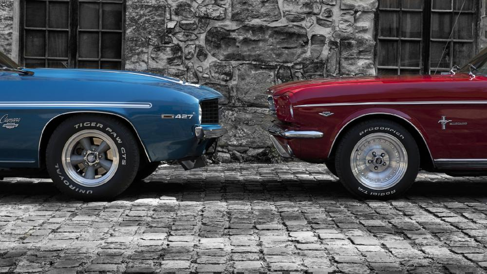 Ford Mustang and Chevrolet Camaro wallpaper