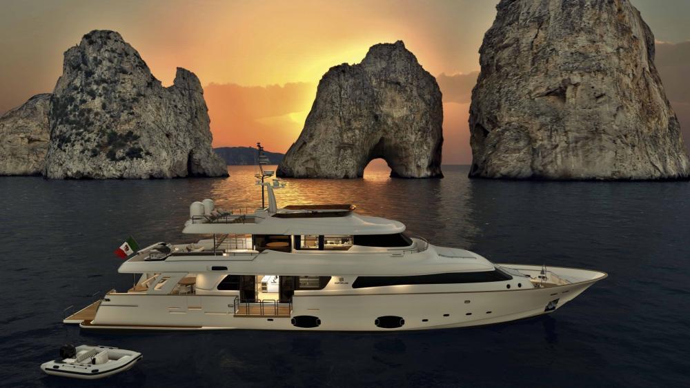 Navetta 33 Luxury Yacht wallpaper
