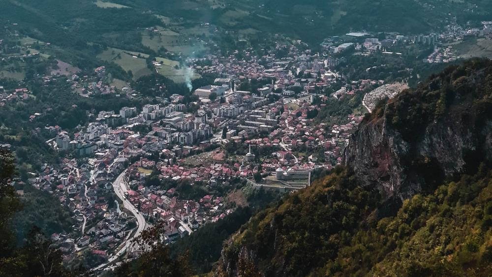 Beautiful view in Travnik wallpaper