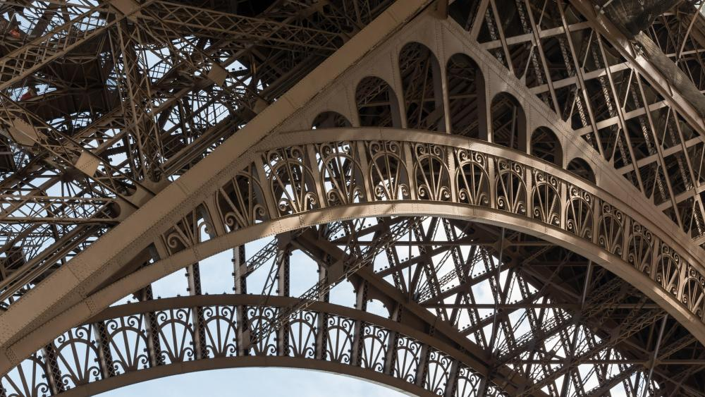 Detail of the Eiffel Tower wallpaper