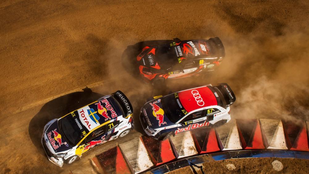 Toomas Heikkinen, Niclas Grönholm & Kevin Hansen at World RX of South Africa wallpaper