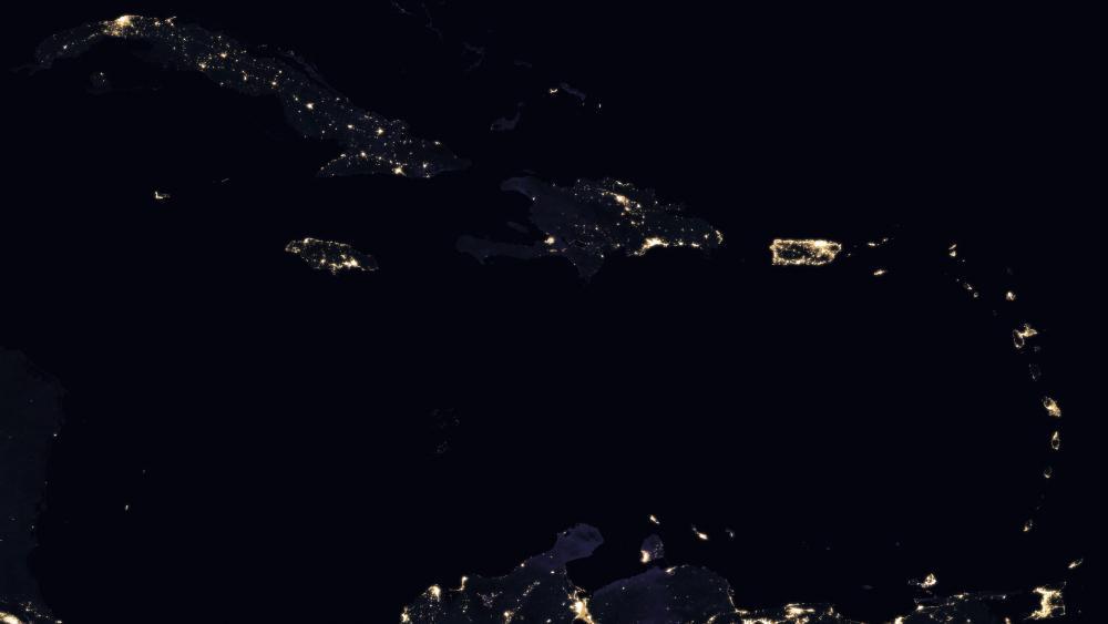 Caribbean Night Lights 2016 wallpaper