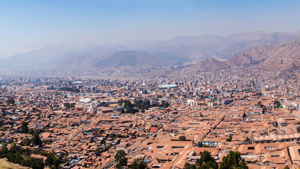 Panorama of Cusco wallpaper