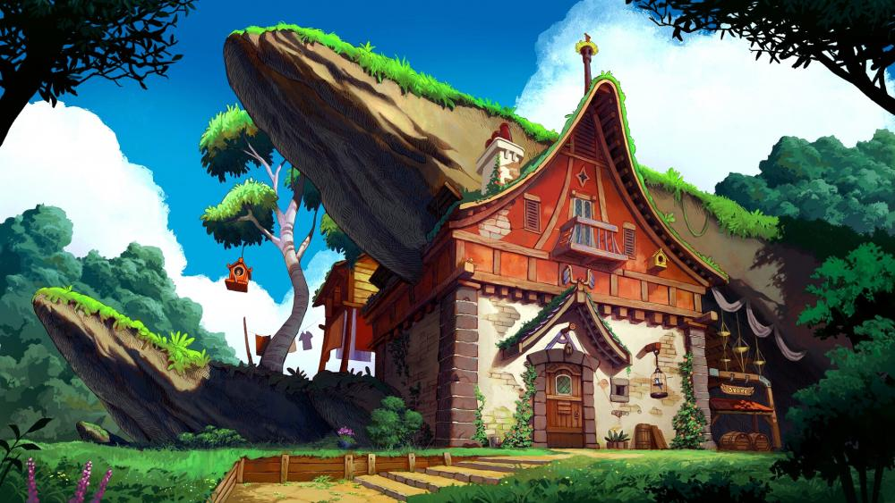 Fairytale House wallpaper