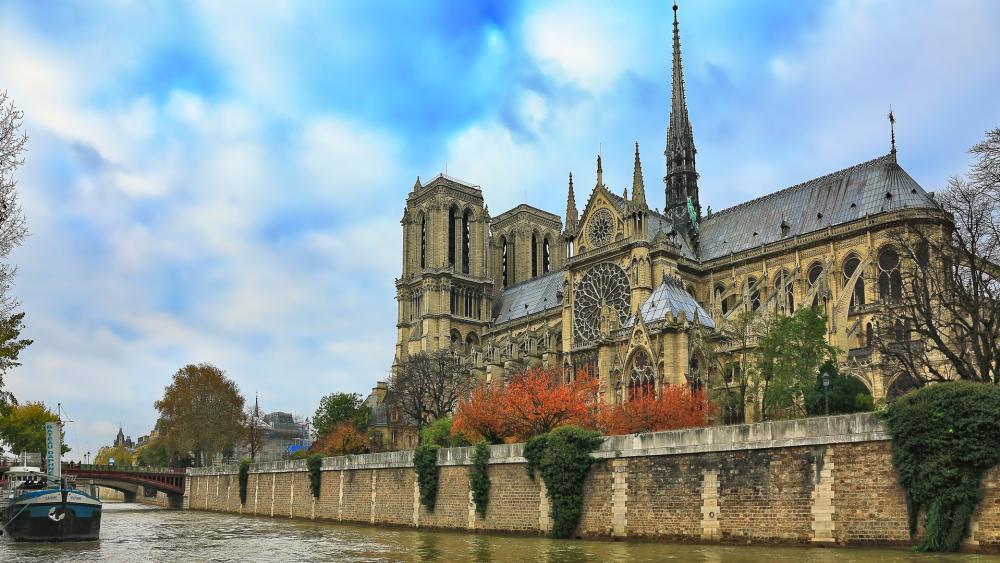 Notre Dame de Paris Cathedral wallpaper