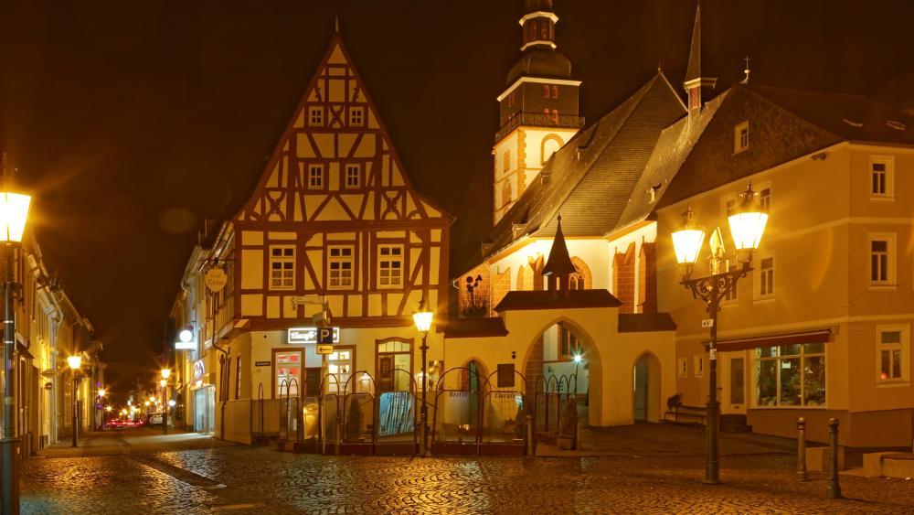 Kirchberg by night wallpaper