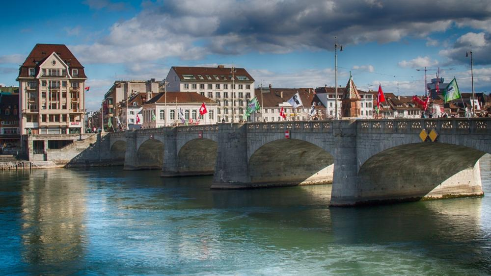 Middle Bridge, Basel wallpaper