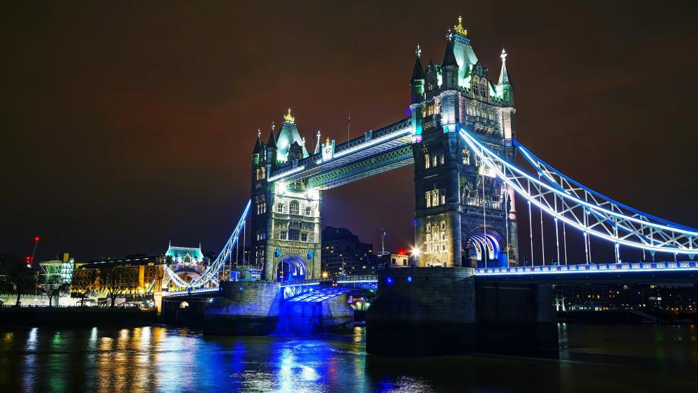Tower Bridge by night wallpaper
