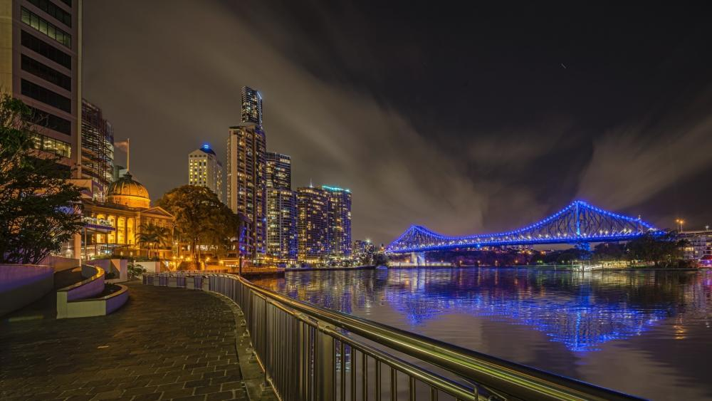 Brisbane by night wallpaper