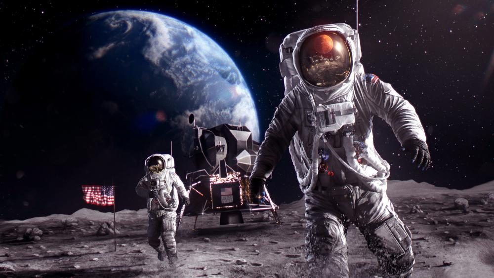 Colonizing The Moon wallpaper