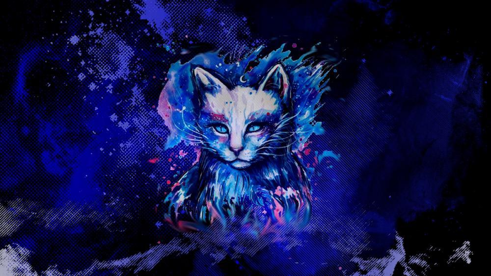 Fantasy cat wallpaper