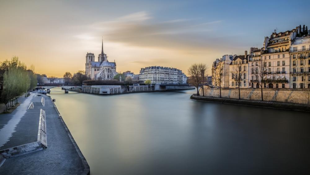 Seine river wallpaper