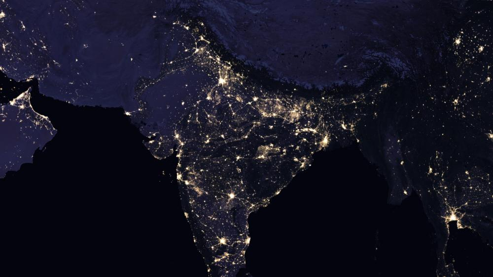 Night Lights of the Indian Subcontinent 2016 wallpaper
