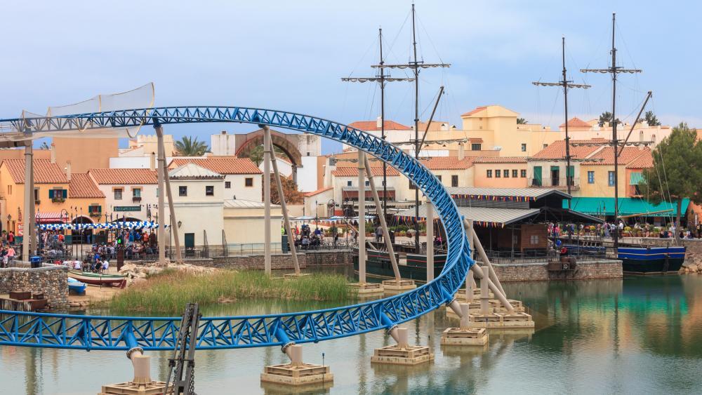 Furius Baco Roller Coaster at PortAventura Park wallpaper
