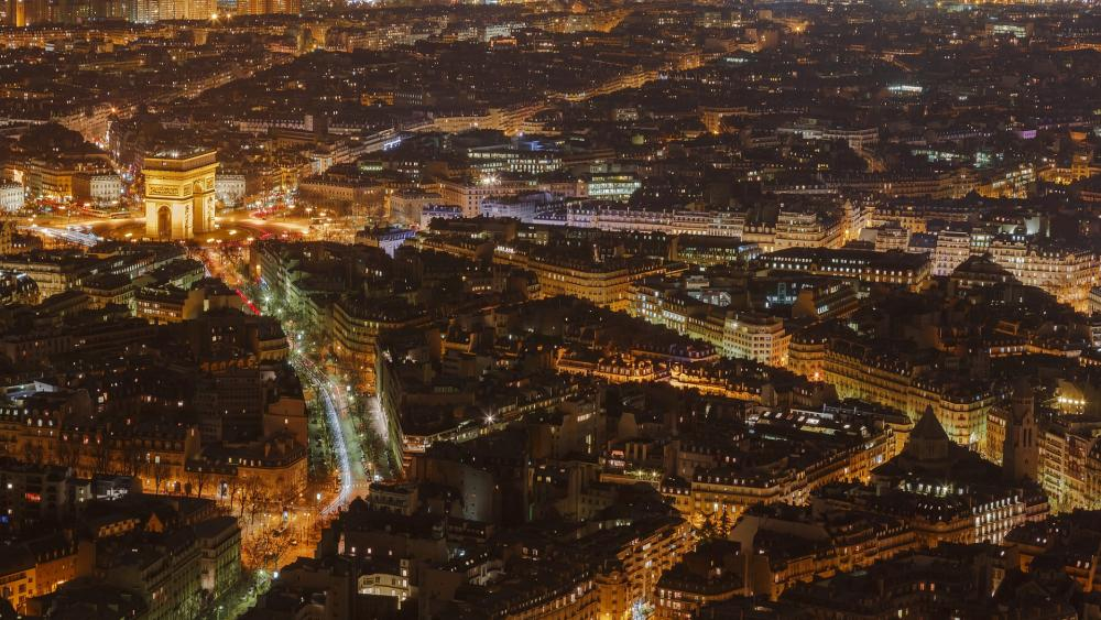 Paris from above wallpaper