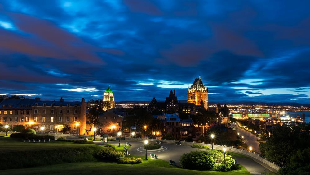 Québec by night wallpaper