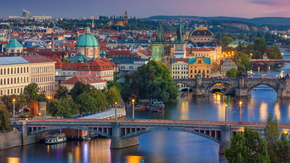 Prague from Letna Park wallpaper