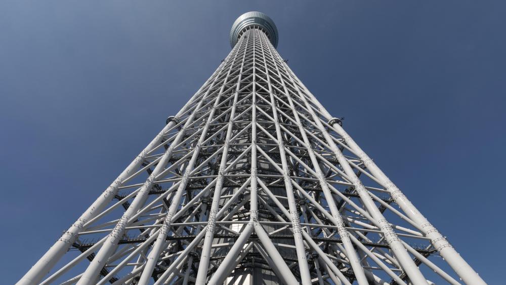 Worm's-eye view of Tokyo Skytree wallpaper