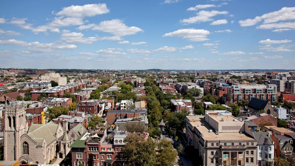 Facing East from the Top of the The Cairo in Washington, D.C. wallpaper