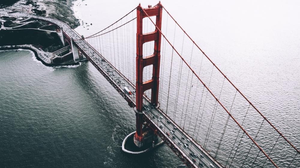Golden Gate Bridge from above wallpaper