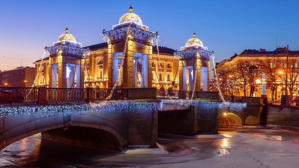 Lomonosov Bridge, St. Petersburg wallpaper