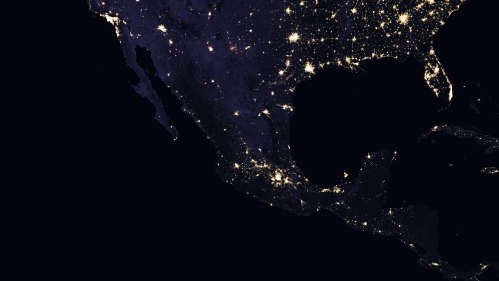Mexico's Night Lights 2016 wallpaper