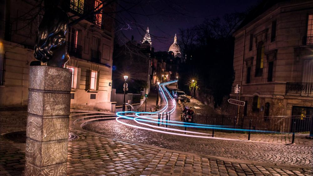 Paris Street Long Exposure Photography wallpaper