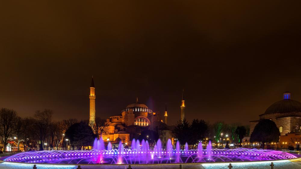 Hagia Sophia mosque outdoor wallpaper