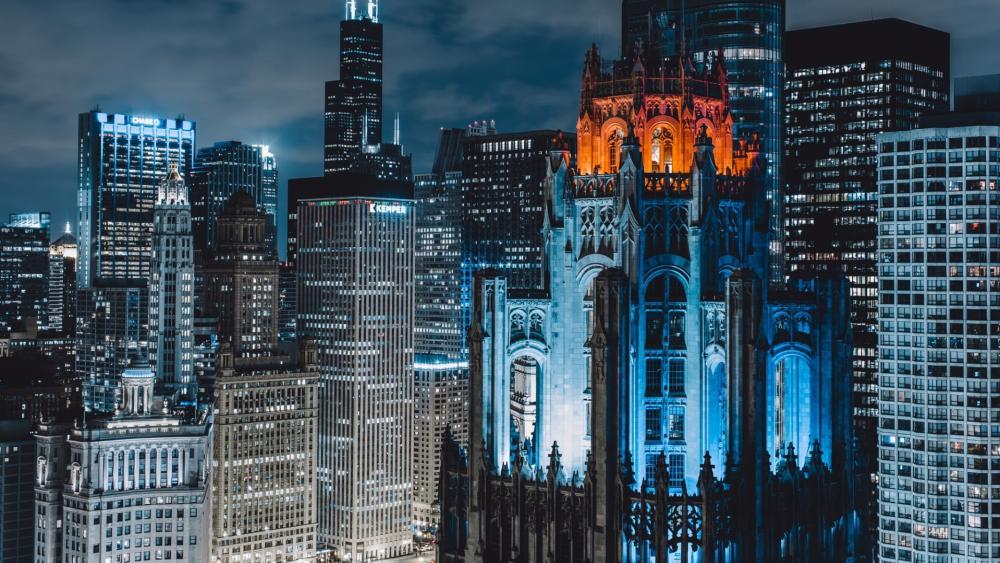 Tribune Tower, Chicago wallpaper