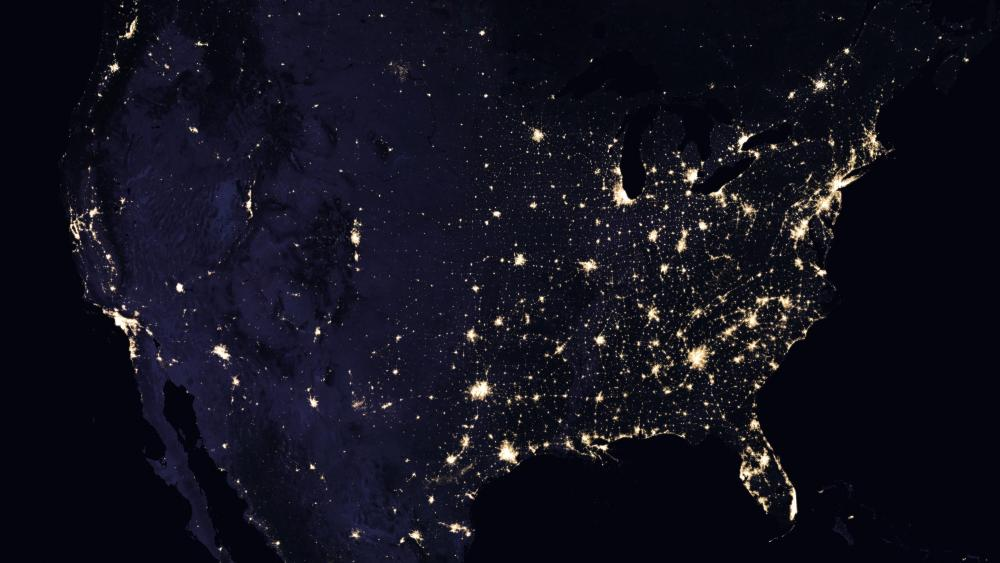 Night Lights of the Continental United States 2016 wallpaper