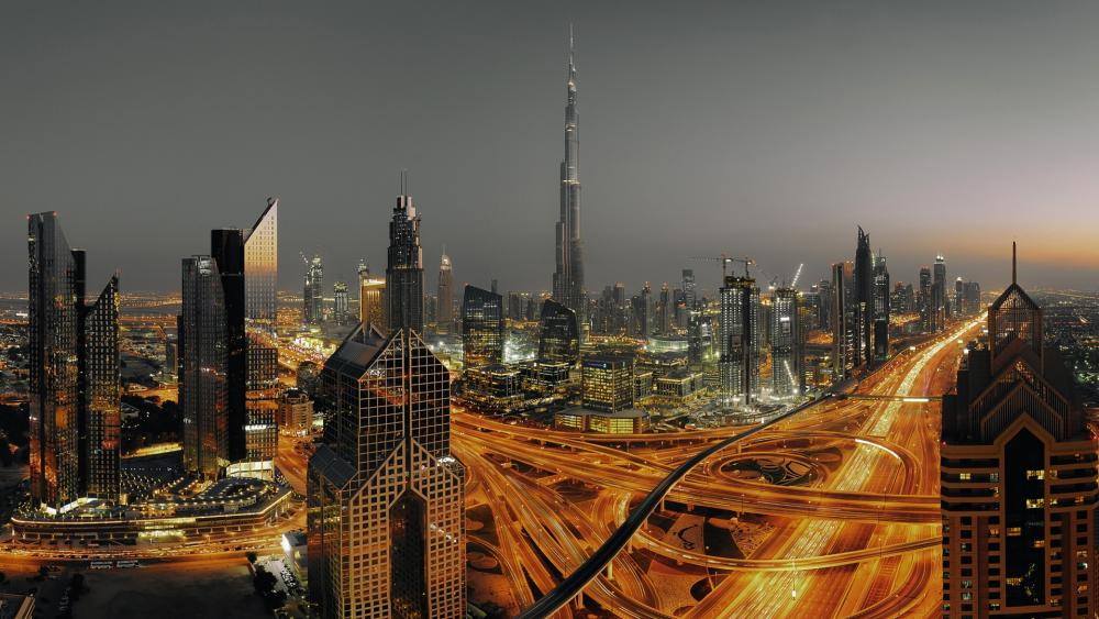 Dubai skyline wallpaper