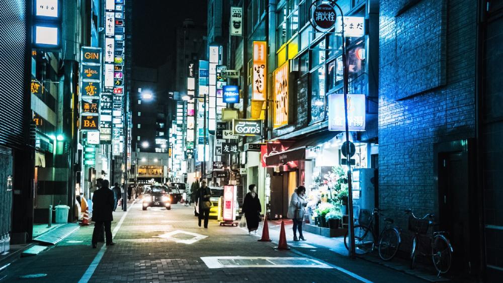 Street of Tokyo wallpaper