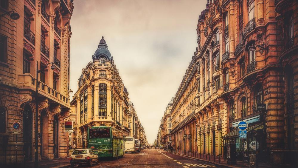 Street of Paris wallpaper