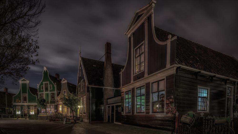 Zaanse Schans houses wallpaper