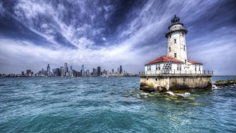Chicago Harbor Lighthouse wallpaper