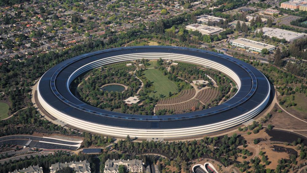 Aerial View of Apple Park wallpaper