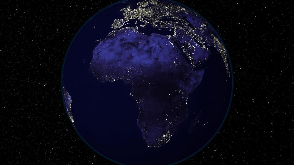 Light and Dark Image Pair: Africa (Night) wallpaper