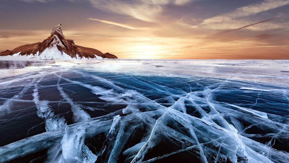 Iced Lake wallpaper