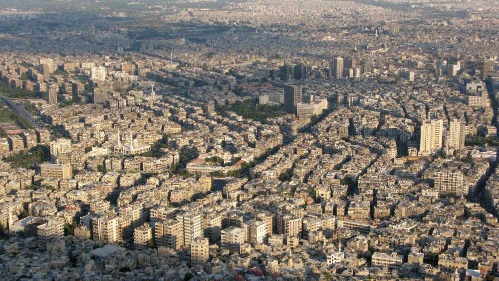 Panorama of Damascus wallpaper