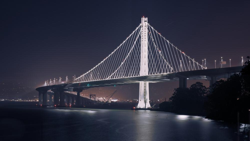 Eastern Span of the San Francisco–Oakland Bay Bridge at Night wallpaper